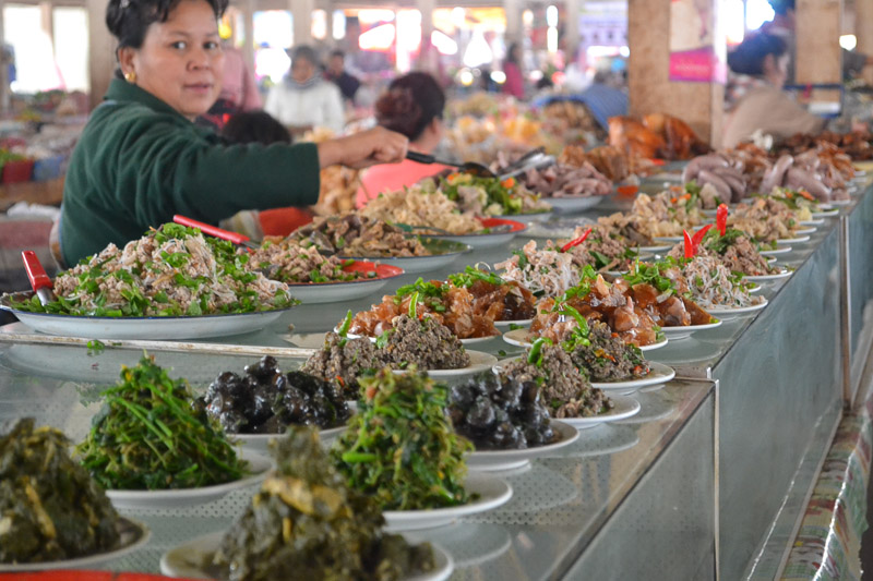 northern lao market food