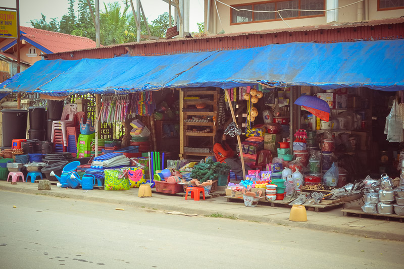 shopping Northern Laos