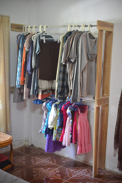 diy simple open closet