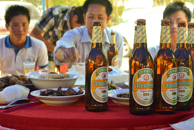 2014-03-27 Lao party by Melissa Crossett thelandinbetween.com Northern Laos