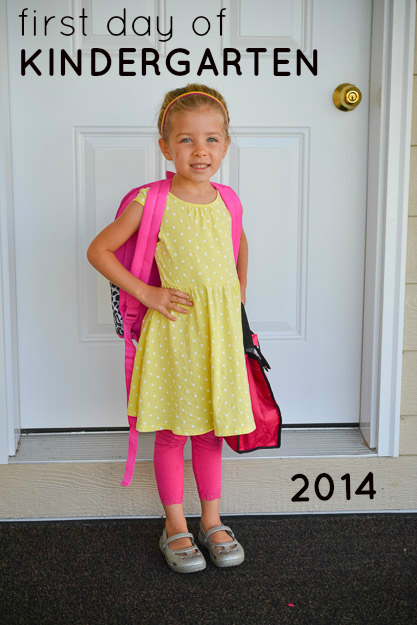first day of kindergarten by Melissa Crossett 2
