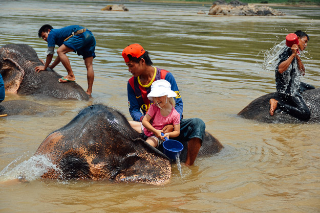 2015-09-21 elephant riding with kids in Luang Prabang by Melissa Crossett (22 of 25)
